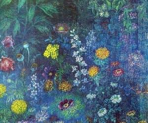 1942, naive art, and flowers at night image