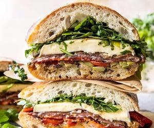 olive, brie cheese, and chorizo image