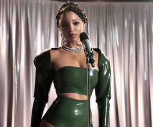 beautiful, famous, and latex image