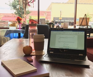 apple, books, and cafe image