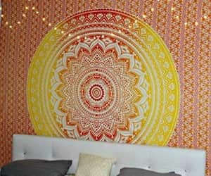 etsy, wall hanging, and indian tapestry image