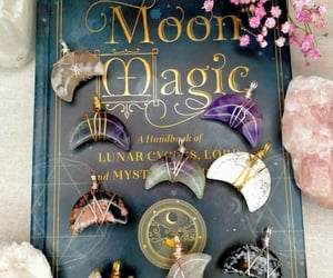 crystal necklace, crystals, and moon magic image