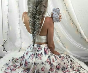 clothes, hair, and hairstyle image
