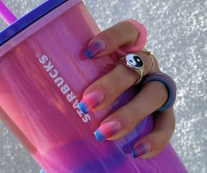 aesthetic, blue, and cup image