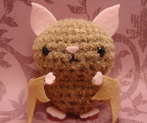 amigurumi, bat, and crafting image