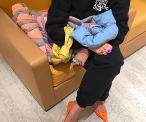 prada shoes, everyday look, and orange heels image