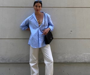 button up shirt, street style, and summer image
