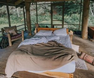 bed, cabin, and house image