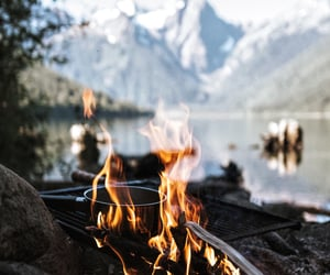 fire, autumn, and fall image