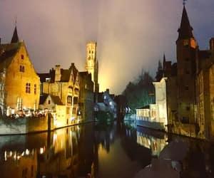 belgium, bridge, and night image