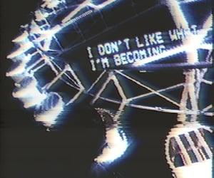 amusement park, foggy, and neon image