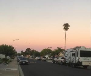 california, street, and suburbia image