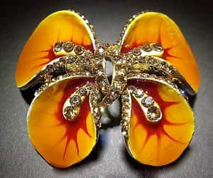 figural brooch, etsy, and flower brooch image