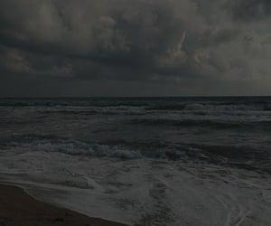 background, beach, and dark image