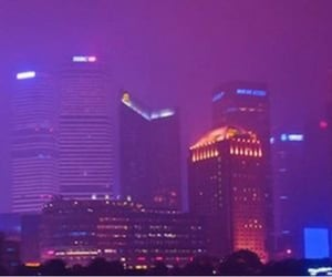 aesthetic, city, and purple image