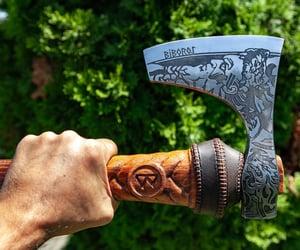 axe, vikingaxe, and camping image