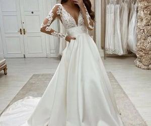 bride, wedding dress, and vestido de novia image