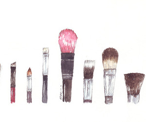 Brushes, makeup, and drawing image