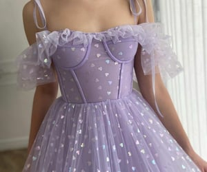 dress, lilac, and girls image