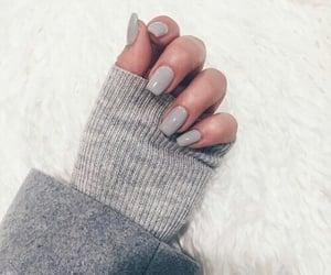nails, girl, and gray image