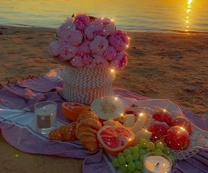aesthetic, beach, and flowers image