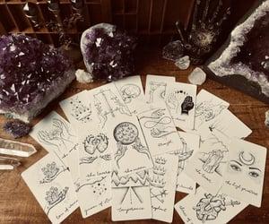 altar, crystals, and magic image