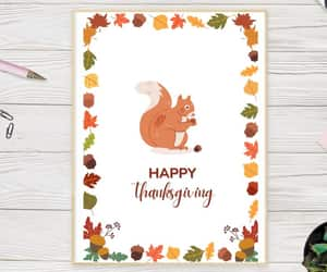etsy, thank you card, and fall greeting card image