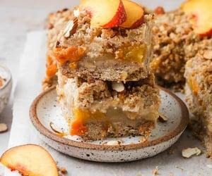 dessert, food, and peach image