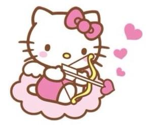 overlay, pink, and hello kitty image