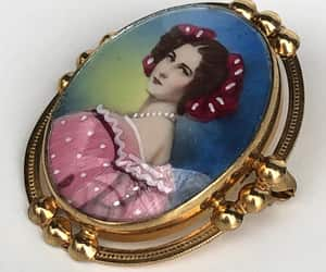 antique jewelry, etsy, and miniature painting image