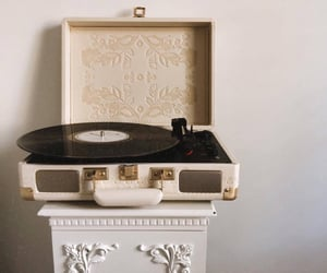 music, aesthetic, and record player image