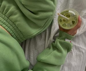 drink, fashion, and green image