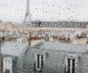 eiffeltower, paris, and rain image