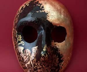 black mask, venetian mask, and etsy image