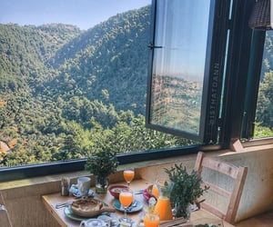 breakfast, travel, and view image