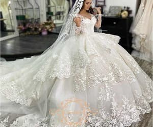 wedding gowns, wedding ball gown, and white wedding dress image