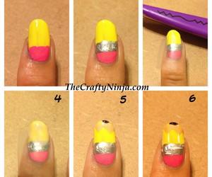 nail art, nails, and pencil image