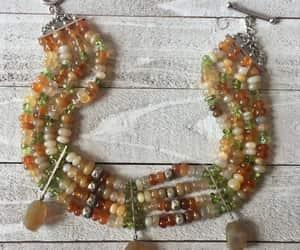 etsy, statement necklace, and gemstone choker image