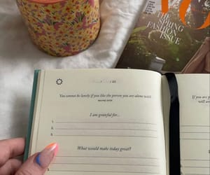 bed, gratitude, and journal image