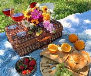 aesthetic, flowers, and fruit image