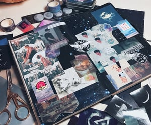 Collage, taekook, and cosmos image