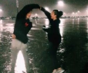 couple, rain, and romance image