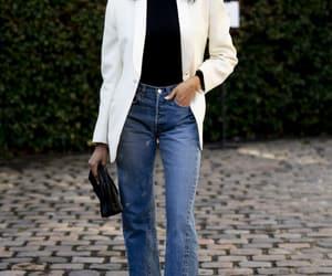 blazer, denim, and jeans image