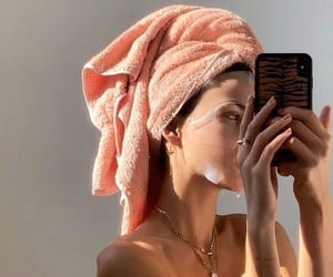 girl, face mask, and beauty image