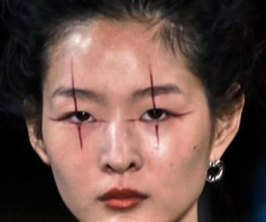 art, cross, and makeup image