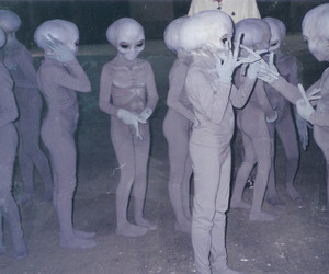 aliens, blackandwhite, and blonde image