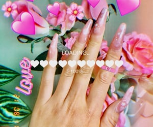 aesthetic, fake nails, and make-up image