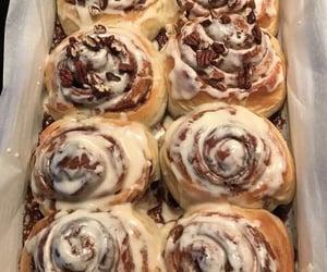cinnamon roll, food, and dessert image