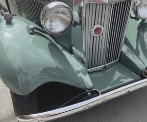 green and old car image