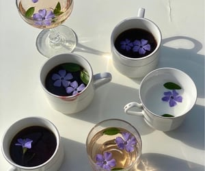 aesthetic, tea, and flowers image